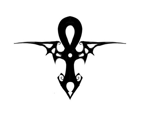 ankh tribal tattoo black tribal ankh design by ad1066