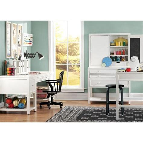 home decorators martha stewart craft martha stewart living craft space picket fence desk 0463410400 the home depot