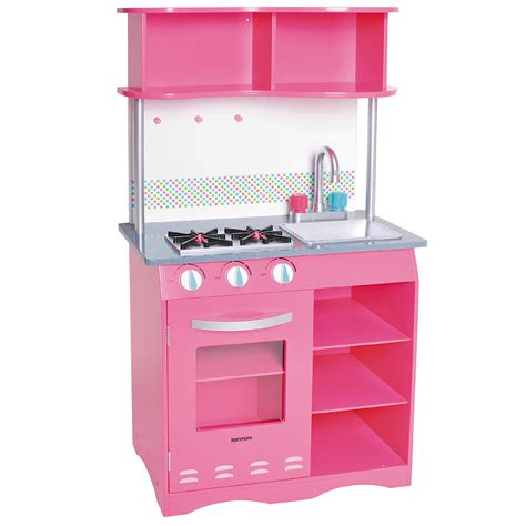 Kitchen Set Pink kenmore wooden kitchen set faucet handles are pink for and blue for cold