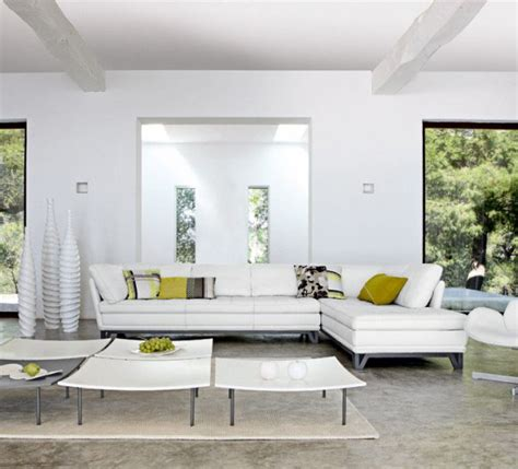 modern white living room techno interior design style contemporary room decorating