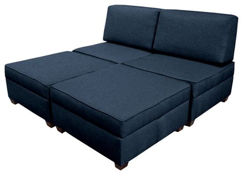 King Sofa Sleeper Duobed Convertible 3 In 1 Sleeper King King Contemporary Sleeper Sofas By