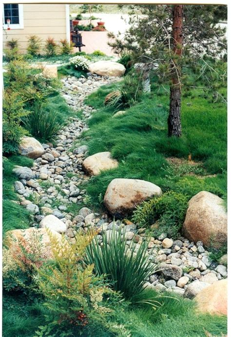 Landscape Edging To Divert Water Riverbed Landscaping Te Creek Peyzaj