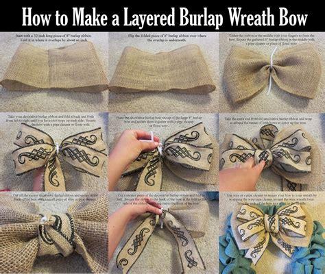 burlap wreath bow wreath bow burlap