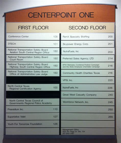 Apartment Building Names Directory Centerpoint One Shines With Brushed Aluminum Directory