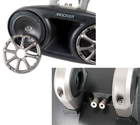 boat tower speakers refurbished kicker 11kmt60 marine audio wakeboard tower