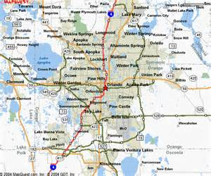 Orlando Highway Map by Central Florida Map Blair Realty Group Orlando Florida