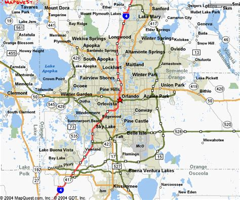 orlando florida map central florida map blair realty orlando florida