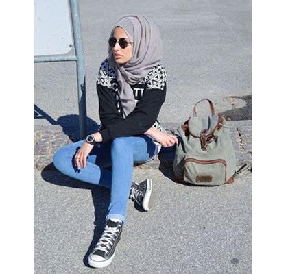 tutorial hijab simple dalam bahasa inggris hijab style gaya simple untuk hangout ala zizi hijabers