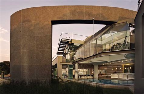 Double Staircase Floor Plans glass house johannesburg property south africa
