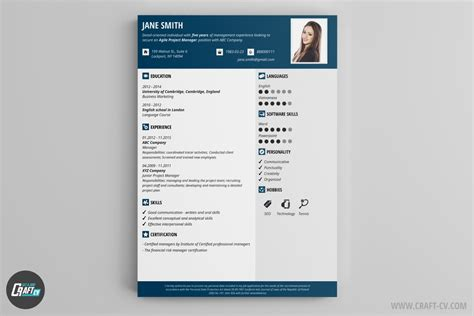 Example Resume Templates by Cv Maker Professional Cv Examples Online Cv Builder