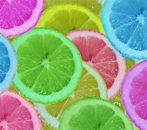 colorful lemon wallpaper inject food coloring into lemons to make the change colors