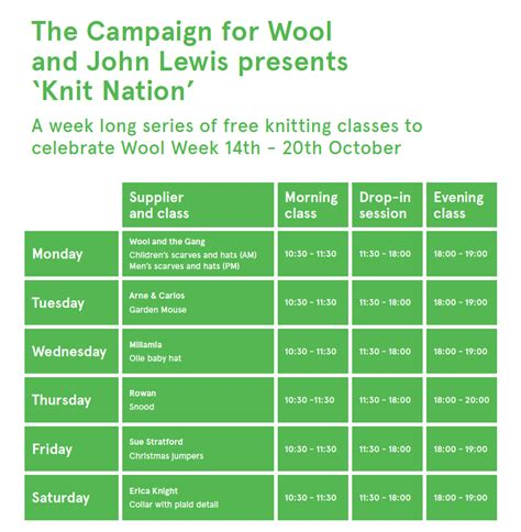 free knitting classes knit nation free knitting classes to celebrate wool week