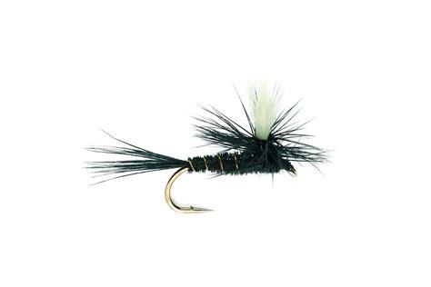 black gnat pattern dry flies parachutes black gnat fulling mill fishing