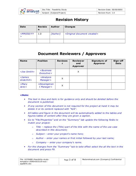 feasibility study template doc 61594881 feasibility study template