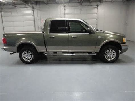 rare low mile 2003 ford f 150 4x4 crew cab king ranch for