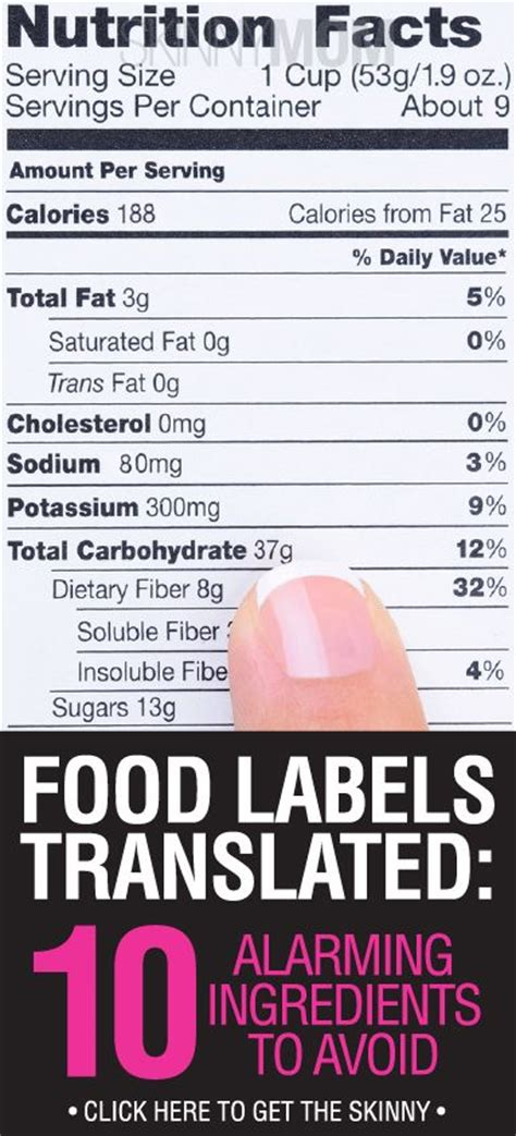 10 Ingredients To Avoid In Your Food by Food Labels Translated 10 Alarming Ingredients To Avoid