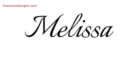 calligraphic name tattoo designs melissa download free