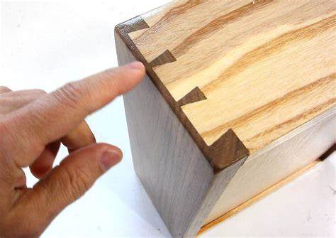 Handmade Dovetail Joints - at cut half blind dovetails