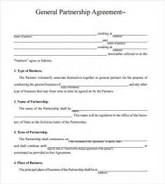 business partnership agreement 8 free samples
