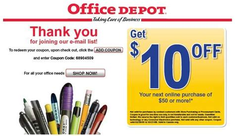 office depot coupons canada office depot online coupon code