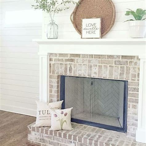 shiplap over brick image result for whitewashed brick and shiplap fireplace