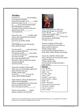 michael jackson biography for elementary students 7 free esl zombies worksheets