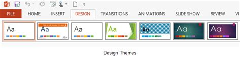 the themes gallery is located on the ribbon tab what is a theme in microsoft powerpoint 2013 the it