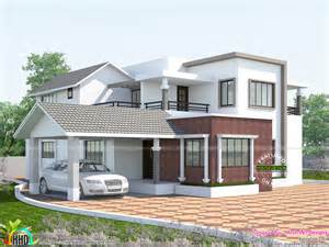 2660 square feet mix roof home kerala home design and