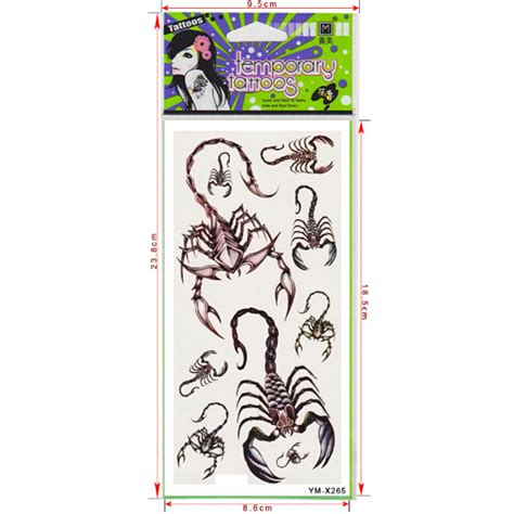 tattoo paper singapore buy scorpion totem design insect waterproof temporary