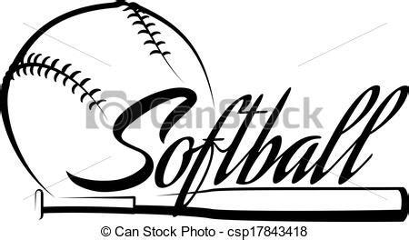 vector softball ball banner   clipart panda free