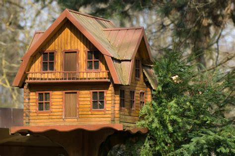 large bird houses large decorative log home bird house on a pole it s a 2 story home with small upper