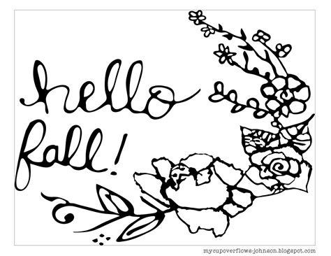 fall coloring sheets my cup overflows fall coloring pages