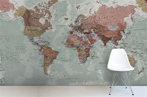 wall mural maps classic world map mural maps