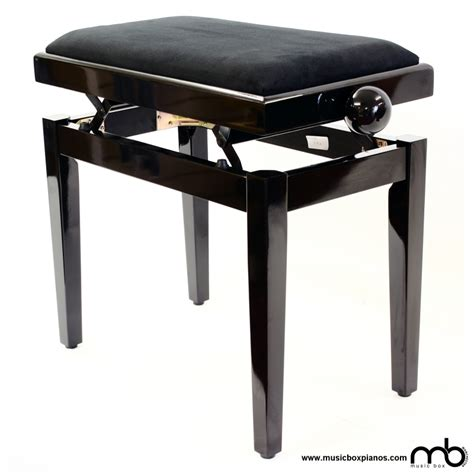 Second Piano Stool by Leatherette Budget Piano Stool Box Pianos Manchester
