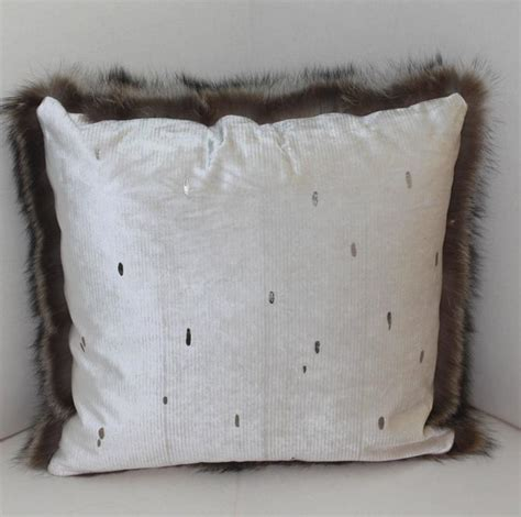 Filled Throw Pillows by Luxurious Filled Genuine Raccoon Throw Pillows For