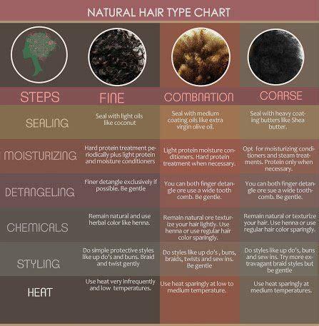 Hair Spa Types by Hair Type Chart Locs Hair Salon Locs