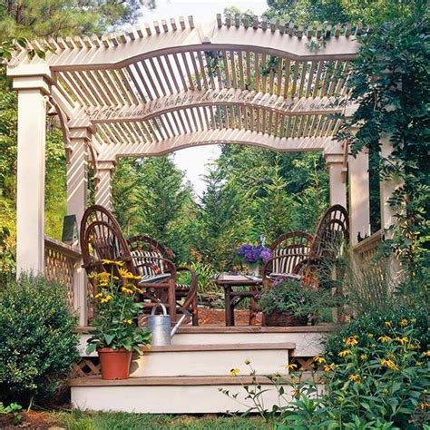 Backyard Arbors Ideas by 22 Beautiful Garden Design Ideas Wooden Pergolas And