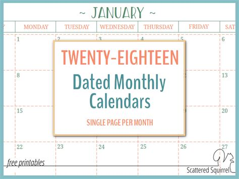 printable monthly calendar pages printable 360 degree