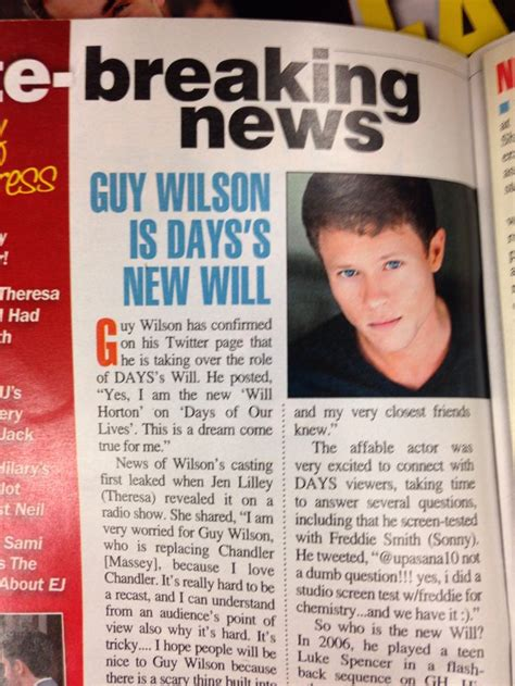 design by day takes part in the official uk top ten wilson takes the of will horton on days of our lives chandler massey 2010 2013