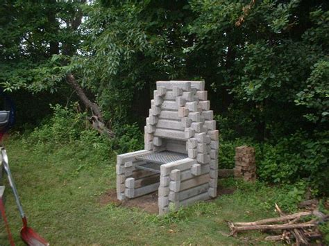 Outdoor Fireplace Cinder Block by Cinder Block Fireplace Back To Nature