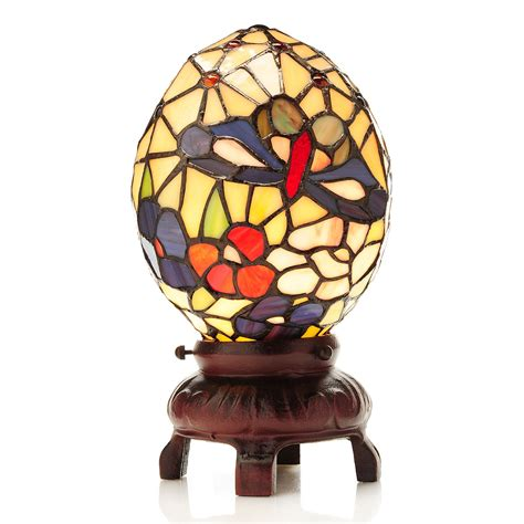 tiffany style butterfly l tiffany style 13 quot stained glass egg accent l butterfly