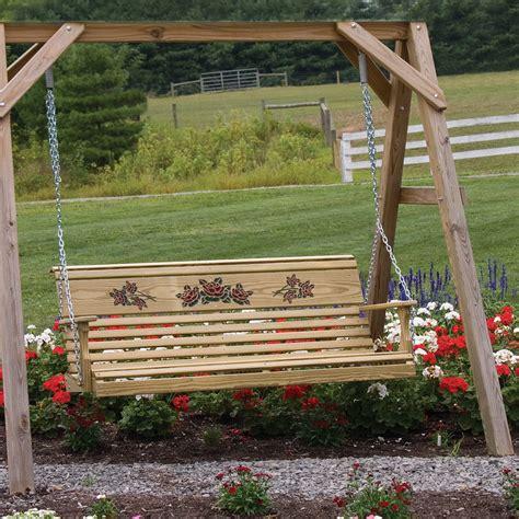 Handmade Porch Swings - amish patio pinewood swings gliders rollback swing