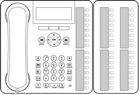 avaya phone template button modules