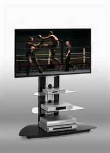 meuble tv verre noir artzein