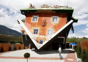 upside down house upside down house in austrian village wows tourists photos