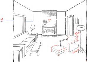 how to draw a living room how to draw a room with perspective drawing tutorial of a