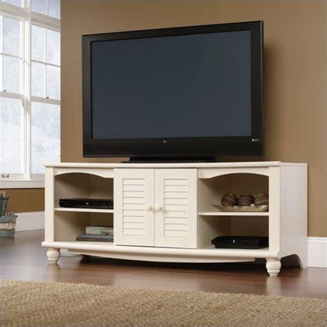 desain lemari tv credenza rak audio entertainment credenza in antiqued white 403679
