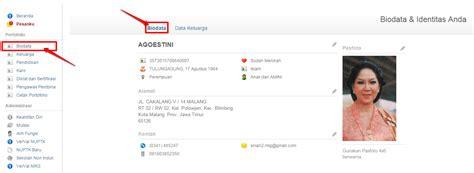 format biodata pegawai cara edit data rinci ptk dilakukan ptk di simpatika
