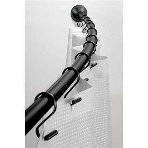 wall mounted shower curtain rod interdesign wall mount curved bathroom shower curtain rod