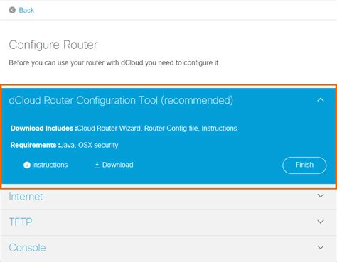 add to router add router to dcloud and files for configuration